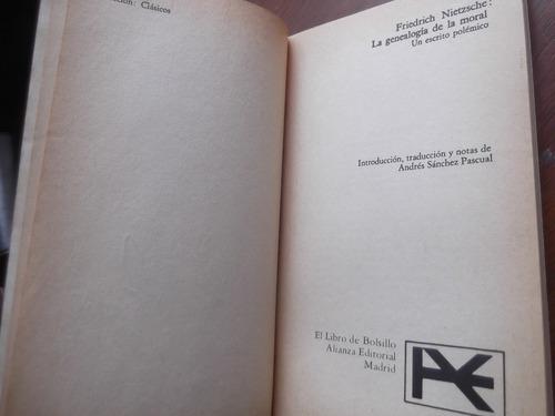la genealogia de la moral friedrich nietzsche alianza