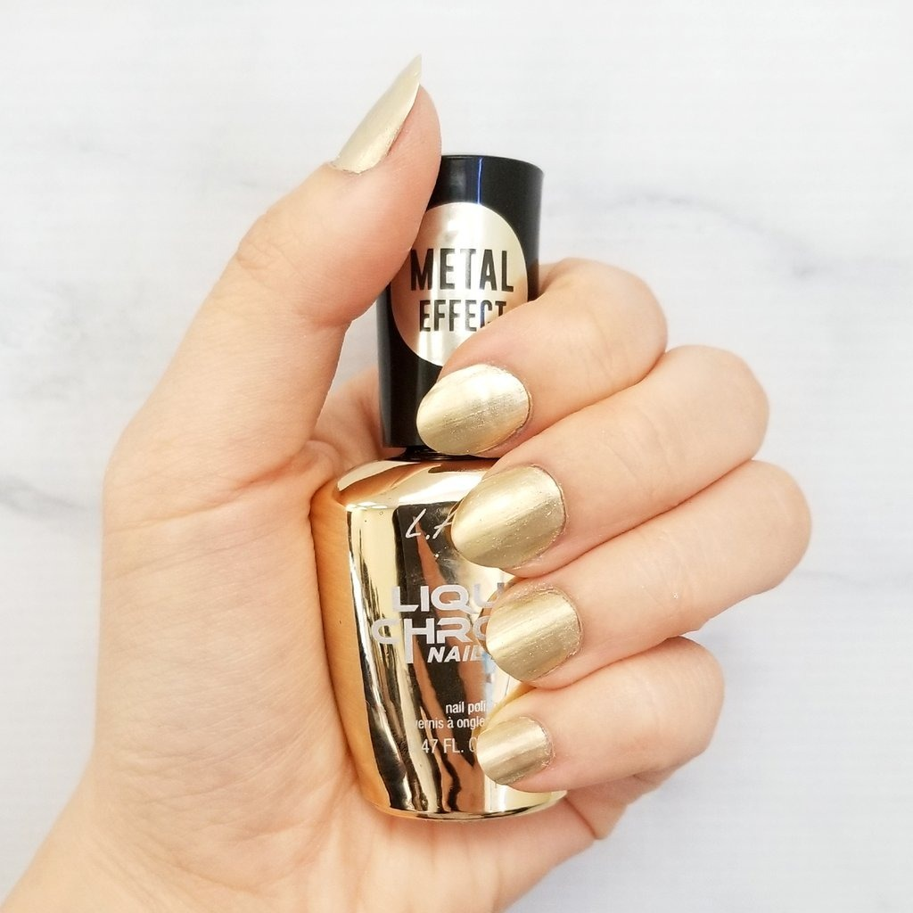 L A Girl Esmaltes Liquid Chrome Nail Metalico