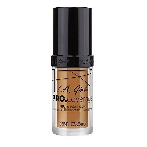 l.a. girl pro coverage liquid foundation, bronce, 0.95 onza