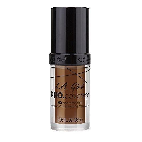 l.a. girl pro coverage liquid foundation, rich cocoa, 0.95 o
