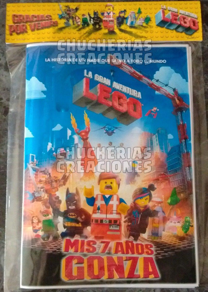 La Gran Aventura Lego 30 Cuadernos Para Colorear O Lisos - $ 597,33 ...