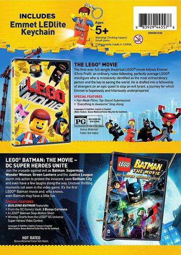 la gran aventura lego & lego batman coleccion dvd + figura