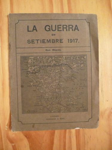 la guerra en setiembre 1917 (con mapas)