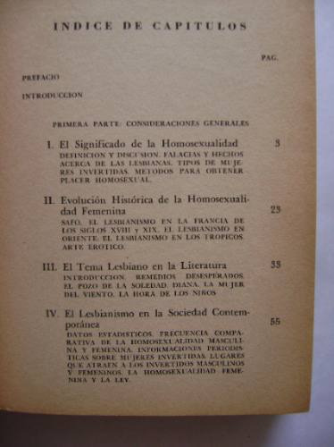 la homosexualidad femenina / dr. franck s. caprio (7° edic.)