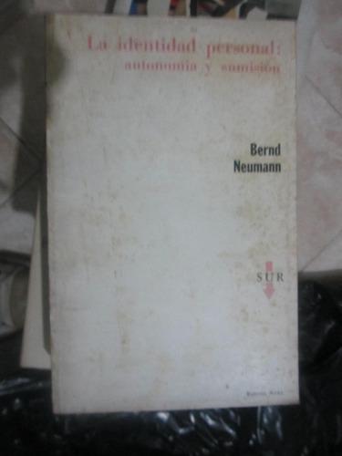 la identidad personal(bernd neumann)(abr14)