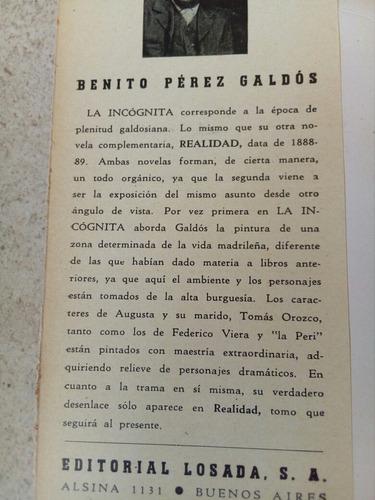 la incógnita. benito perez galdós 1944 $239
