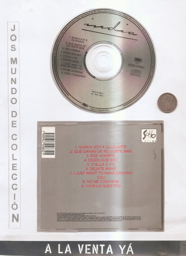 la india - cd original - un tesoro músical