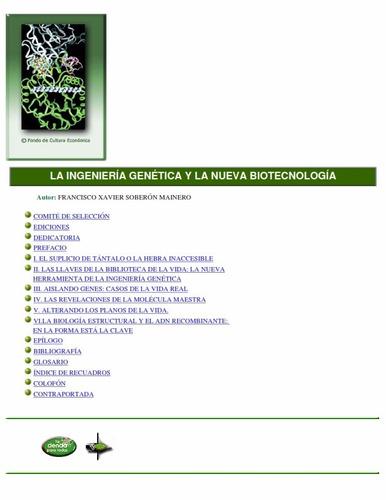 la ingeniería genética pdf