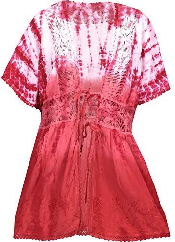 la leela para mujer kimono de corbata rayón playa de verano