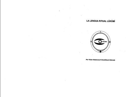 la lengua ritual lukumi