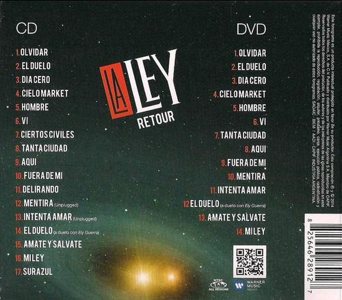 la ley retour cd dvd nuevo nuevo cerrado original