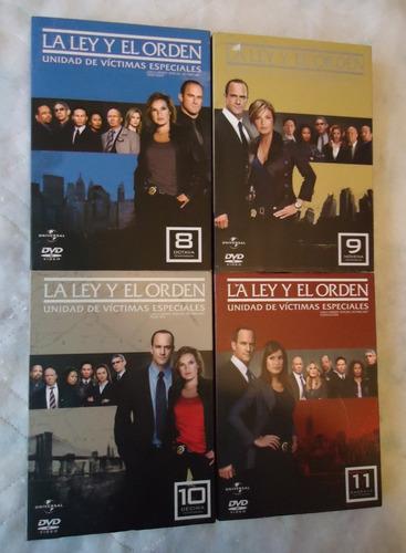 la ley y orden uve temporadas 8 9 10 y 11 en dvd