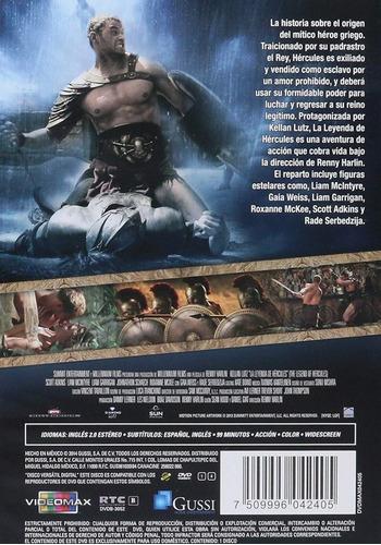 la leyenda de hercules pelicula dvd