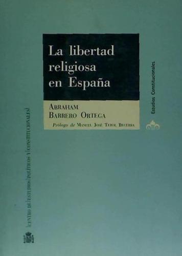 la libertad religiosa en españa(libro idiomas)