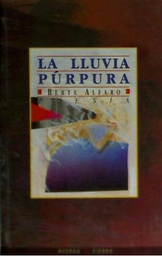 la lluvia púrpura(libro poesía)