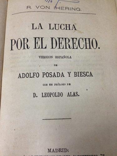 la lucha por el derecho. adolfo posada y biesca. 1881