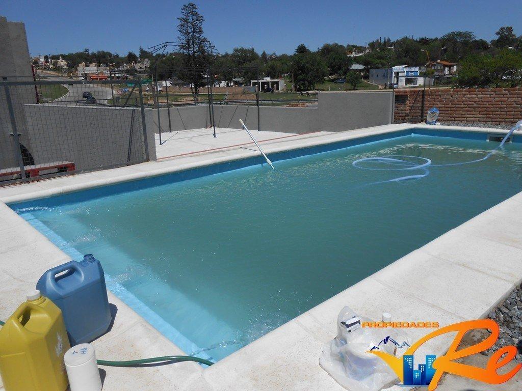 la mejor ubicacion! complejo de dos duplex con piscina  - villa sta cruz del lago - sobre ruta 38