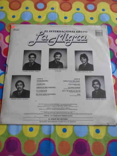 la migra lp el internacional grupo 1982. sellado.