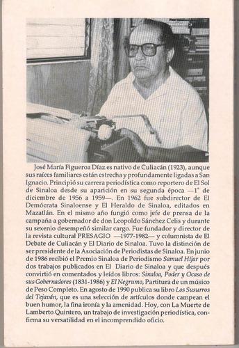 la muerte de lamberto quintero-libro narcotrafico en sinaloa