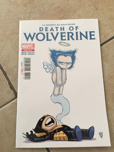 la muerte de wolverine # 12 portada variante young. espalol