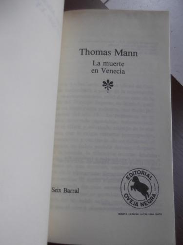 la muerte en venecia thomas mann tapa dura