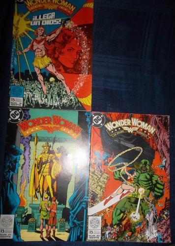 la mujer maravilla  comic dc numeros 19, 20, 21 y 22