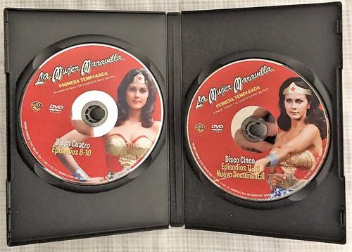 la mujer maravilla dvd primera temporada, original 5 discos.