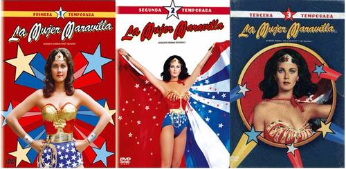 la mujer maravilla paquete de temporadas 1 2 y 3 en dvd
