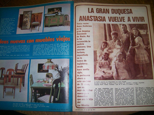 la nacion revista 407- guillermo vilas / duquesa anastasia