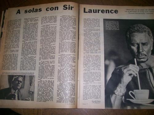 la nacion revista- claudia cardinale / lawrence olivier