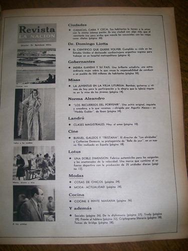 la nacion revista- norma aleandro / domingo liotta / gandhi