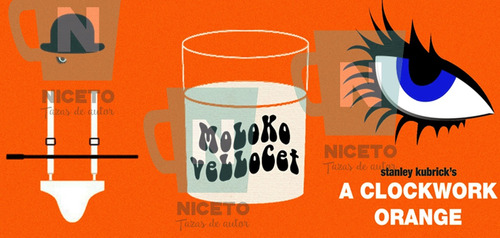 la naranja mecanica modelo ilustracion taza niceto