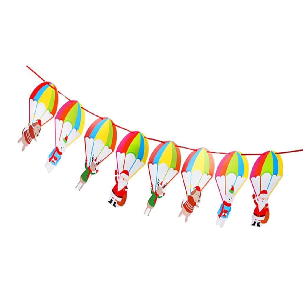 La Navidad Colgando Banner Banderines De Papel Guirnalda De ...