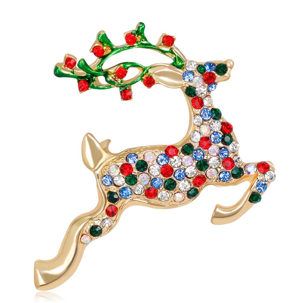 La Navidad Lindo Reno Estilo De Colores De Diamantes De Imit ...