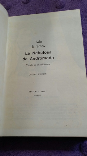 la nebulosa de andrómeda de ivan efrenóv [zar]