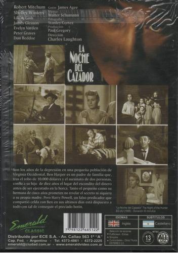 la noche del cazador - dvd nuevo original cerrado