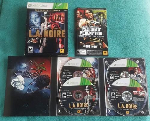 la noire - complete edition 4 dvds - fisico / xbox 360 live