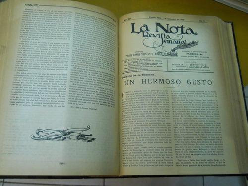 la nota. nº 1 al 280.  buenos aires, 14/8/1915 - 24/12/1920