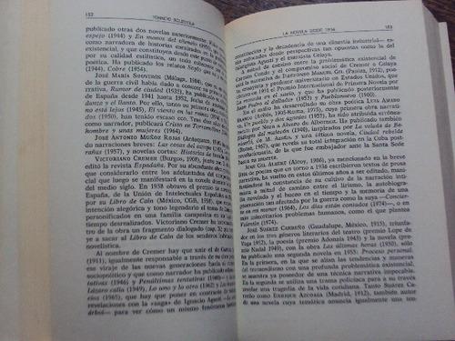 la novela desde 1936 soldevilla durante literatura española