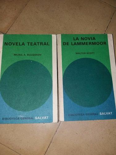 la novia de lammermoor - novela teatral. 2 x 150