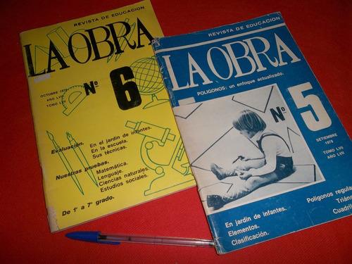 la obra revista de educación 1978 numeros 5y6 lote de 2 rev
