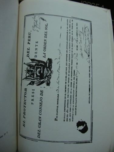 la orden del sol del peru 1821-1825. pedro ugarteche