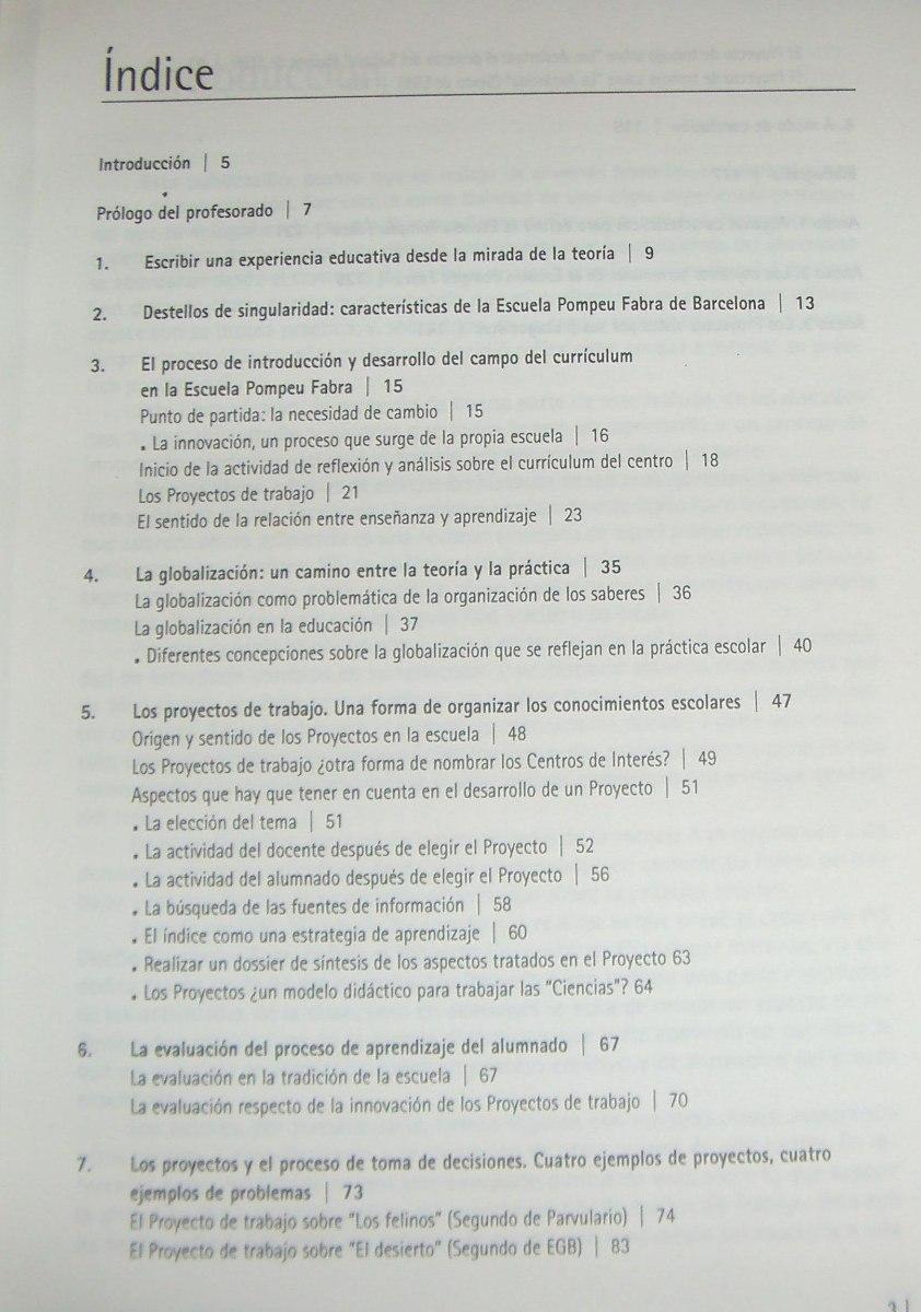 La Organización Del Currículum Por Proyectos De Trabajo, - $ 999,99 ...