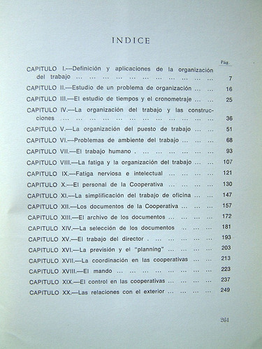 la organizacion del trabajo en las cooperativas