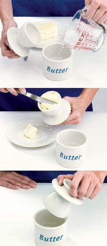 la original mantequilla campana vasija por l tremain, especi