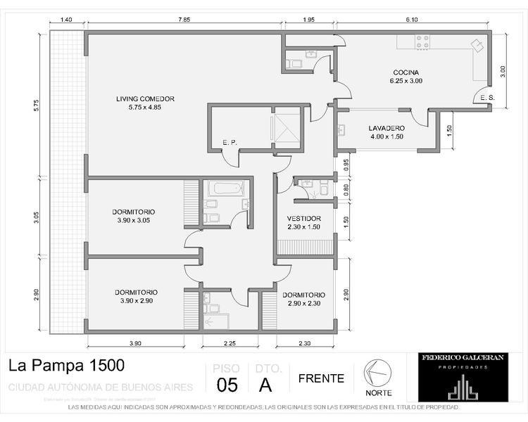 la pampa y libertador - 4 ambientes - dep. - seguridad - cochera fija