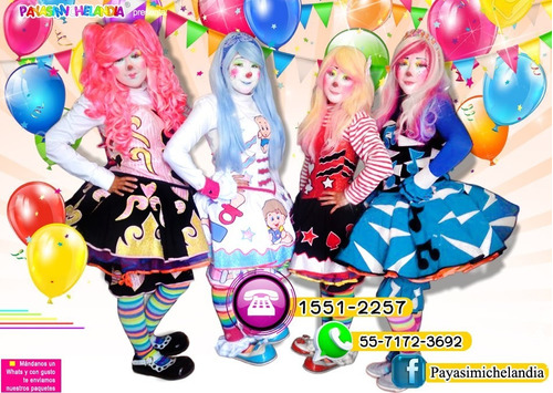 la payasita mas bonita para tu fiesta 55-7172-3692