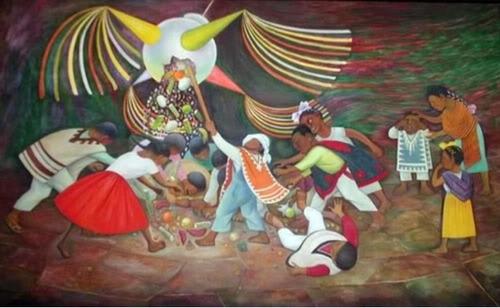 la piñata de diego rivera rompecabezas 500 piezas de rommex