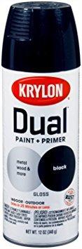 la pintura krylon 8801 'dual' y cartilla de 12 onzas aeros