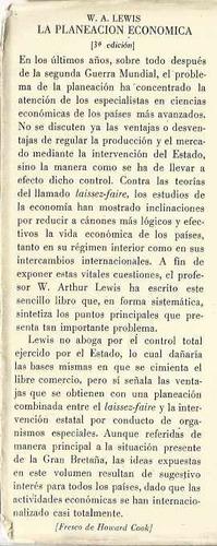 la planeación económica. w. a. lewis-breviarios